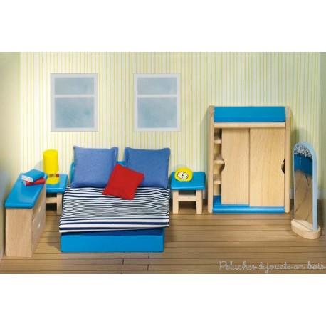 meubles et accessoires jouet en bois l 39 chelle de la maison de poup e. Black Bedroom Furniture Sets. Home Design Ideas
