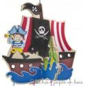Bigjigs Mobile de décoration pirate en bois