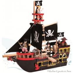 Le Toy Van le bateau de pirates en bois Barbarossa