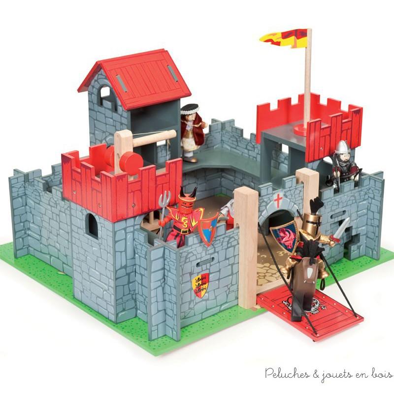 ch teau fort en bois color le toy van univers de jeu chevaliers et roi. Black Bedroom Furniture Sets. Home Design Ideas
