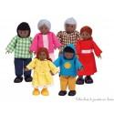 Famille heureuse Afro-Américaine de poupée Hape