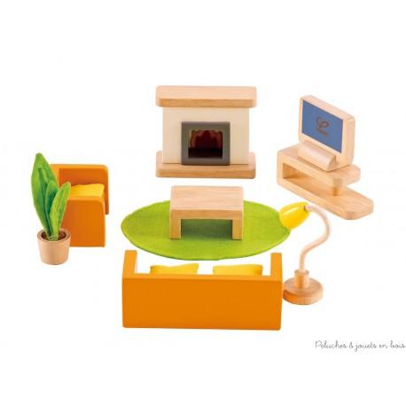 Meubles pour maison de poupées, salon multimédia