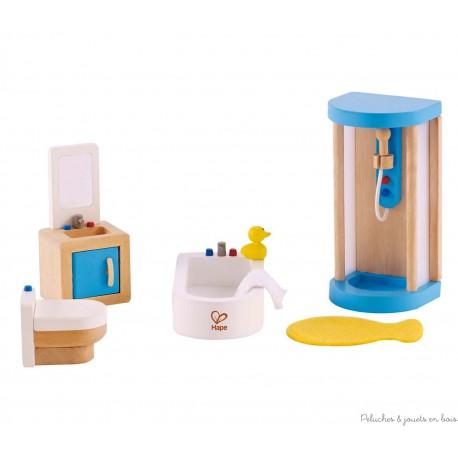 Meubles pour maison de poupées, salle de bain familiale