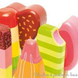 Le Toy Van glaces Lollies jouet d'imitation en bois Honeybake