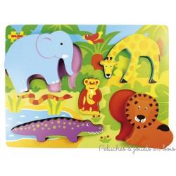Puzzle en relief le safari