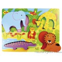 Bigjigs Puzzle en relief  safari animaux de la jungle