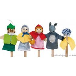 Petit chaperon rouge 4 marionnette à doigts