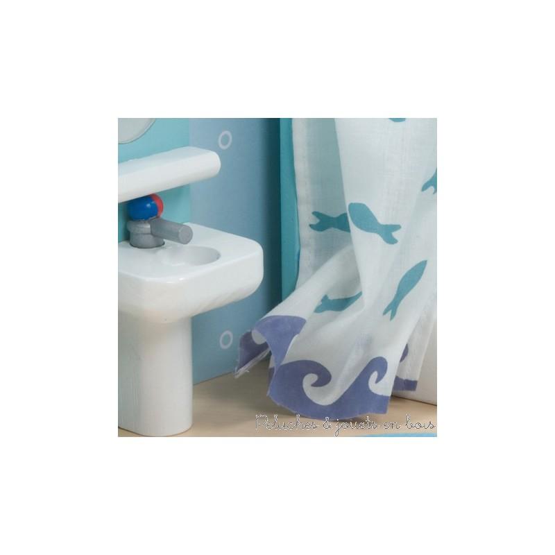 Meubles de salle de bain avec accessoires jouet en bois le for Accessoires pour salle de bain en bois