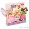 coffret 3 bonnes fées Budkins poupées articulées en bois Le Toy Van