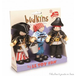 Le Toy Van, 3 pirates Budkins
