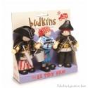 coffret 3 pirates Budkins figurines articulées en bois Le Toy Van