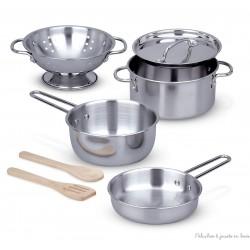 Poêlons & casseroles, batterie de cuisine  complete en métal