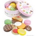 Cookies box boite de 12 biscuits en bois jouet Vilac