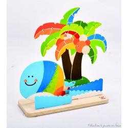 Crée et peins ton île tropicale