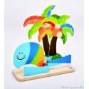 Crée et peins ton île tropicale Hape