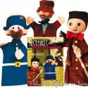 Ensemble de 3 marionnettes à main Guignol Anima Scéna