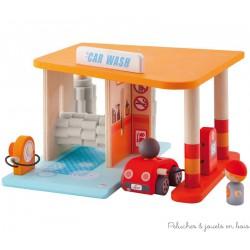Sevi jouet en bois garage Lavage auto station service