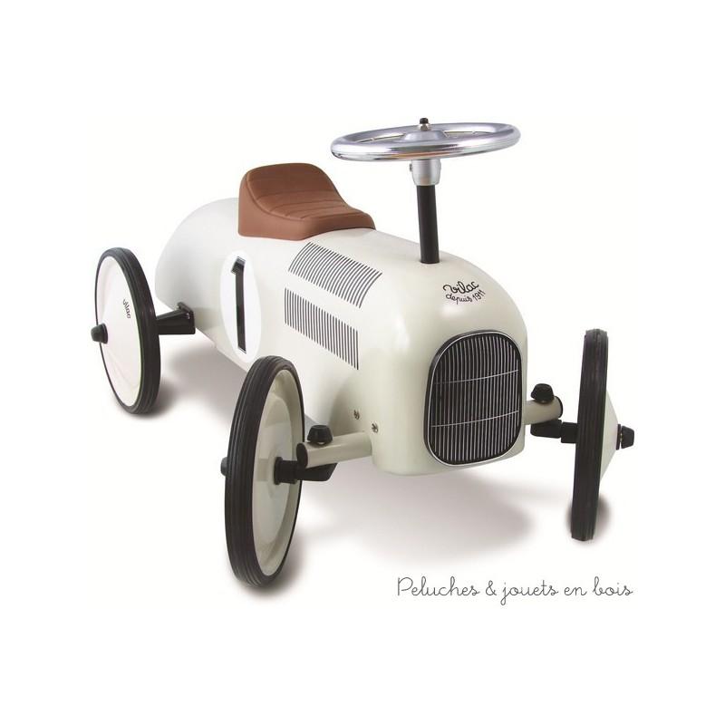 voiture porteur m tal nacr vintage jouet b b sign vilac pour 18 mois. Black Bedroom Furniture Sets. Home Design Ideas