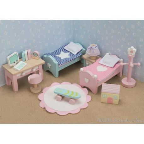 Le Toy Van, chambre à coucher des enfants de Daisylane Meubles pour maison de poupée