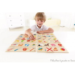 Rayer l'intrus Cross out jeu en bois Hape E8137