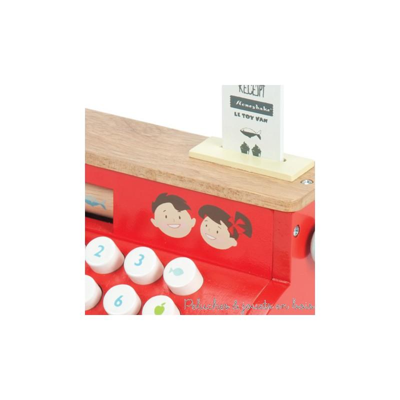 caisse enregistreuse en bois pour jouer la marchande le toy van 3 ans. Black Bedroom Furniture Sets. Home Design Ideas