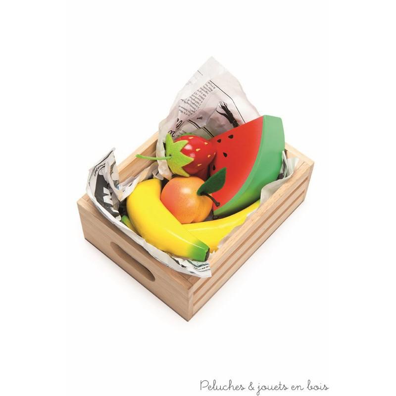 caissette en bois de fruits le toy van pour jouer la marchande 3 ans. Black Bedroom Furniture Sets. Home Design Ideas