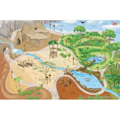 Tapis De Jeu G Ant D 39 1 50m X 1m Univers De La Jungle Le Toy Van 3 Ans
