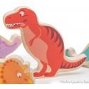 Le Toy Van Mes Amis les Dinosaures rouges en bois