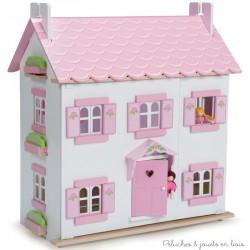 Maison de Sophie + 6 piéces meublées jouets en bois Le Toy Van