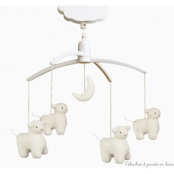 Trousselier Mobile musical Moutons Ecru