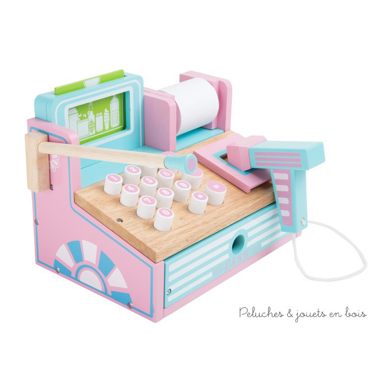 Exceptionnel caisse en bois aux couleurs pastel pour jouer à la marchande dès 3 ans AF41