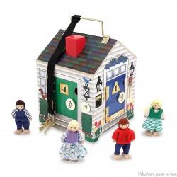 Maison en bois à sonnettes