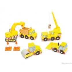 5 petites Voitures de Chantier jouet en bois Le Toy Van TV442