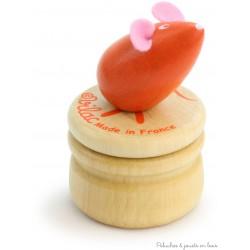Vilac Boîte à dents de lait souris orange en bois