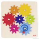 Jeu des Engrenages en bois et puzzle Goki 58530