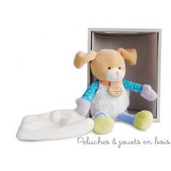 Doudou et compagnie, Choupidoudou Petit Chien avec doudou et attache sucette