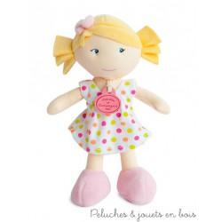 Doudou et Compagnie, Petite Demoiselle Blonde Robe à Pois