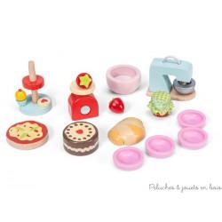 14 Accessoires de pâtisserie pour maison de poupée, jouet en bois Le Toy Van