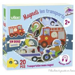 Vilac, Magnets des transports 20 pièces en coffret bois