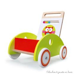 Scratch Chariot de marche Lou le Hibou avec frein