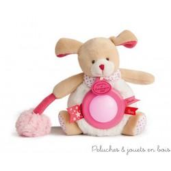 Doudou et Compagnie, Doudou Veilleuse Lovely ours Fraise
