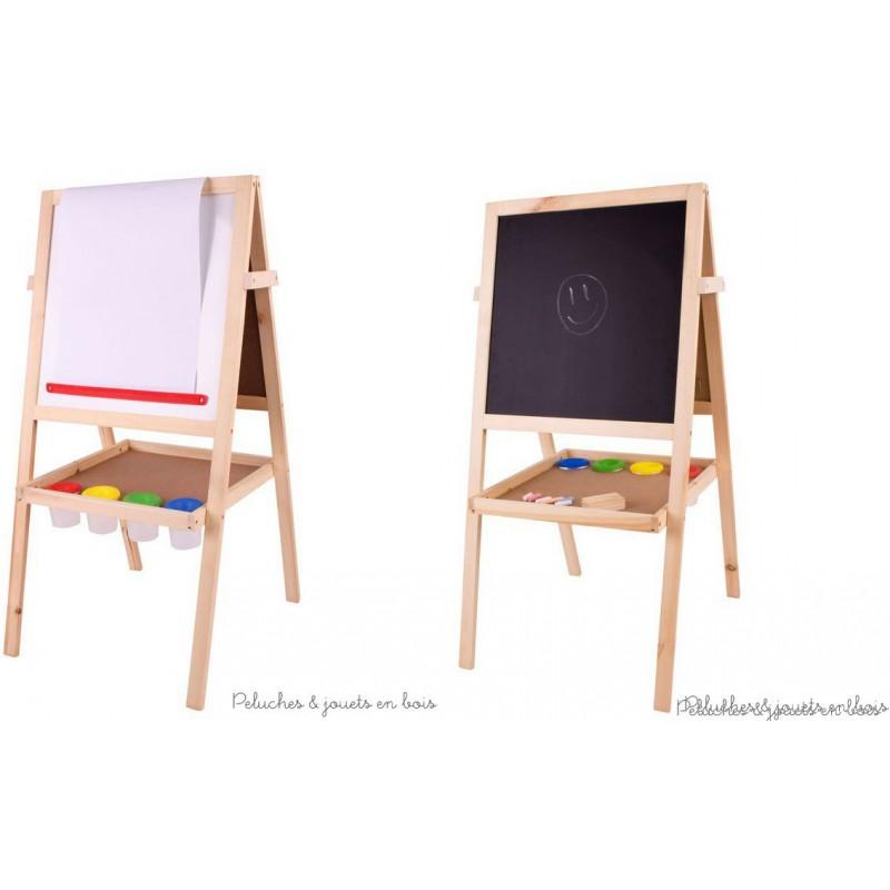 tableau chevalet en bois polyvalent 2 faces acc bigjigs. Black Bedroom Furniture Sets. Home Design Ideas