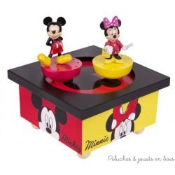 Trousselier Manège musical bois Mickey et Minnie
