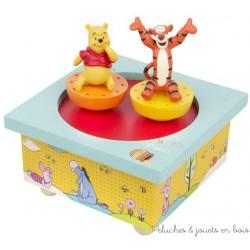 Trousselier Manège musical bois Winnie l'Ourson et Tigrou