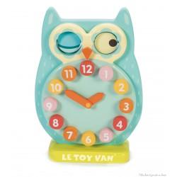 Le toy van Horloge Hibou Clin d'Oeil jouet en bois