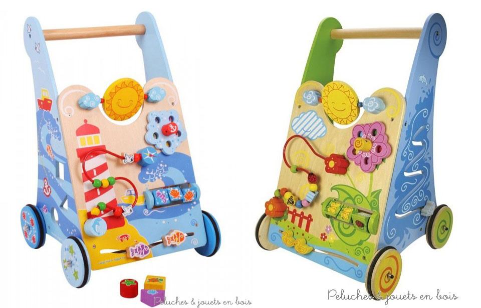 Les deux chariots de marche centre d'activité de la marque Bigjigs : nouveauté et bestseller