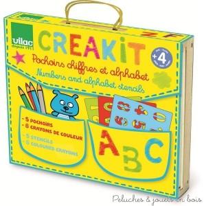 Avec ce kit créatif tu vas pouvoir dessiner, des formes géométriques,des lettres, des chiffres, poser des opération puis tout colorier. Dimensions du packaging 16 x 18 x 5 cm. Normes CE