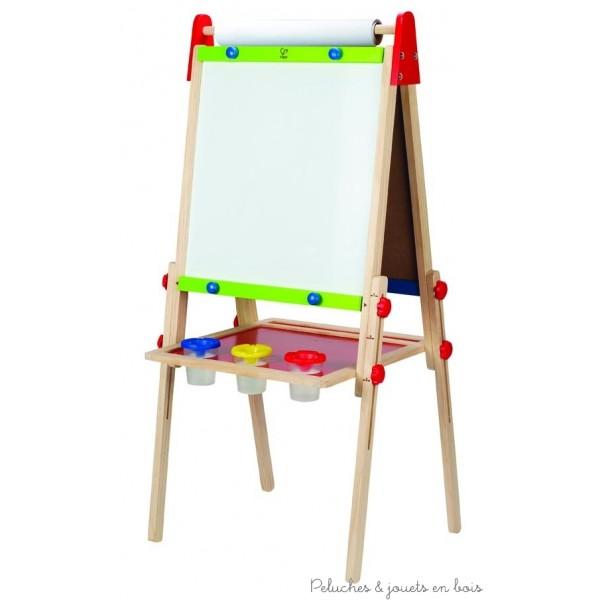 Ce chevalet 3 en 1 te permettra de peindre, écrire ou dessiner à la craie ou au stylo. Dimensions du produit : 55 x 45 x 110 cm. Bois FSC peintures non toxique à base d'eau. Normes CE.