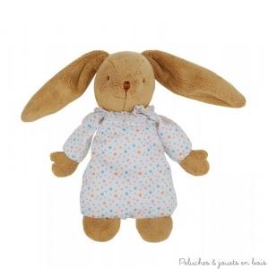 Doudou lapin boite à musique, ce lapin musical nid d'ange Etoiles de la marque Trousselier est adapté aux tout petits dès la naissance. A partir de 0m+