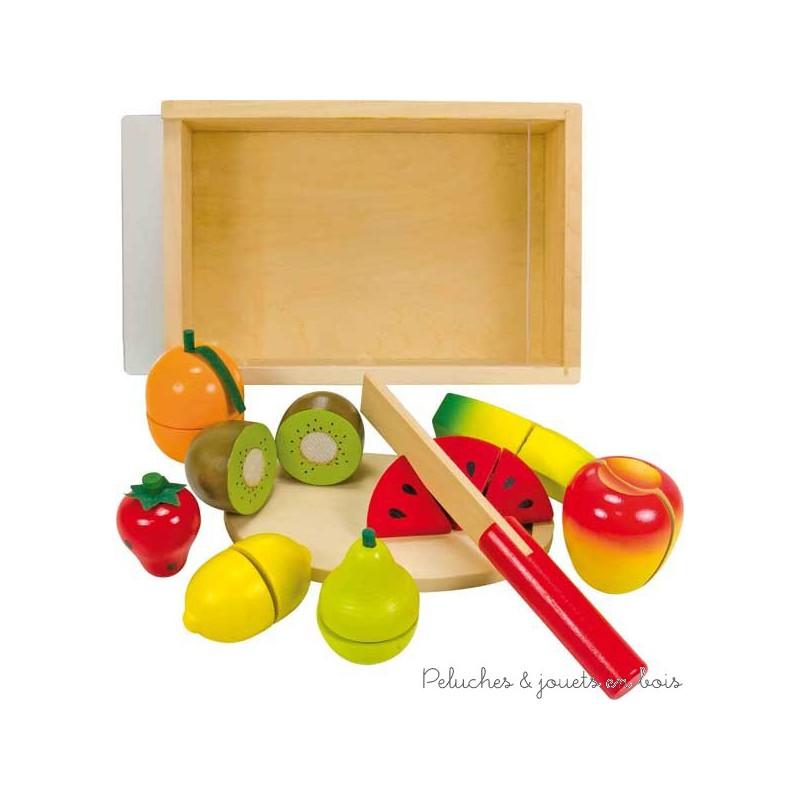 Les fruits à découper en bois de la marque Ulysse Couleurs d'Enfance, à partir de 18 mois +